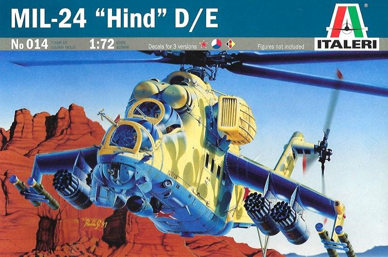 MIL-24 Hind D/E - 1/72 - Italeri 014  - BLIMPS COMÉRCIO ELETRÔNICO