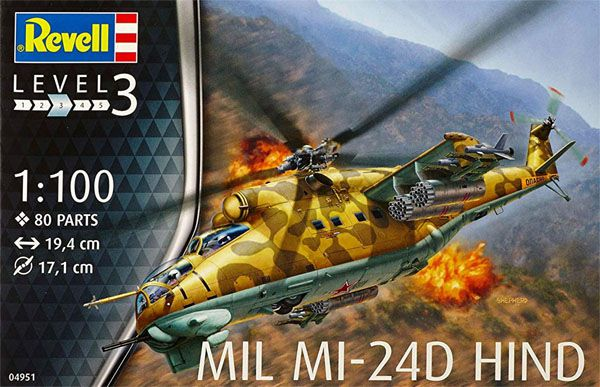 Mil Mi-24D Hind - 1/100 - Revell 04951  - BLIMPS COMÉRCIO ELETRÔNICO