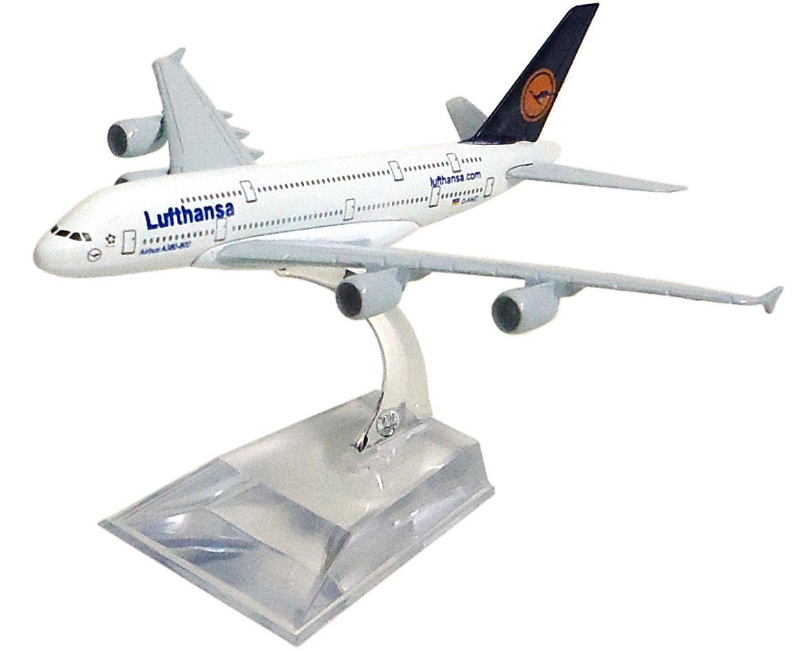 Miniatura Airbus A380-800 Lufthansa - 16 cm  - BLIMPS COMÉRCIO ELETRÔNICO