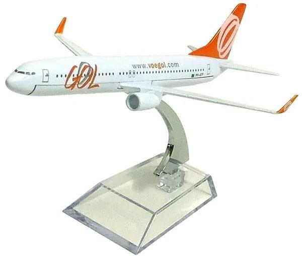 Miniatura Boeing 737-800 da GOL - 16 cm  - BLIMPS COMÉRCIO ELETRÔNICO