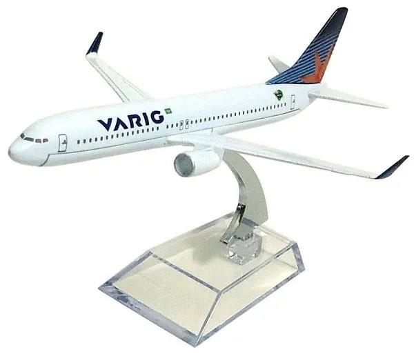 Miniatura Boeing 737-800 da Varig - 16 cm  - BLIMPS COMÉRCIO ELETRÔNICO