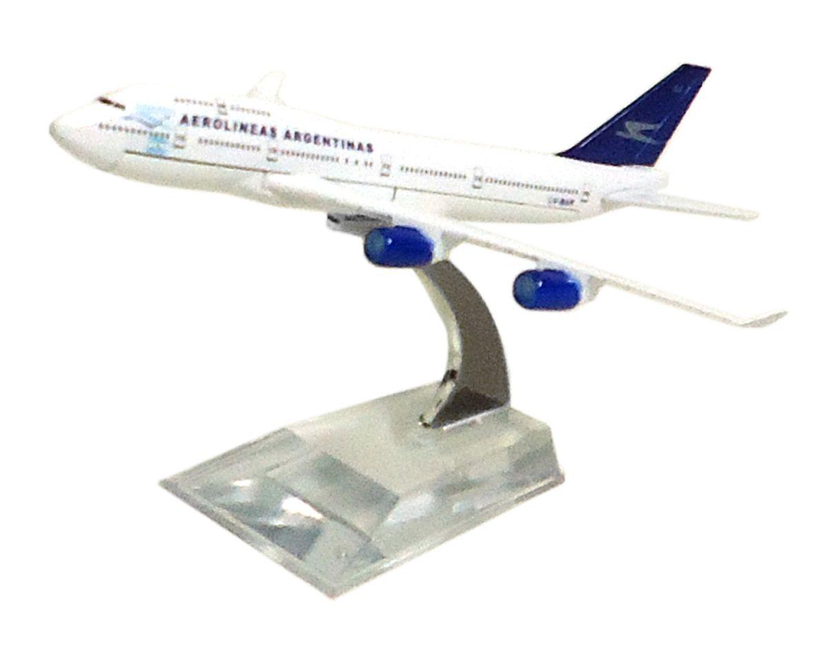 Miniatura Boeing 747-400 Aerolíneas Argentinas - 16 cm  - BLIMPS COMÉRCIO ELETRÔNICO