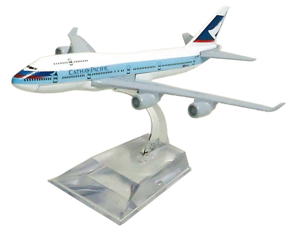 Miniatura Boeing 747-400 Cathay Pacific - 16 cm  - BLIMPS COMÉRCIO ELETRÔNICO