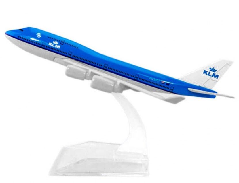 Miniatura Boeing 747-400 KLM - 16 cm  - BLIMPS COMÉRCIO ELETRÔNICO