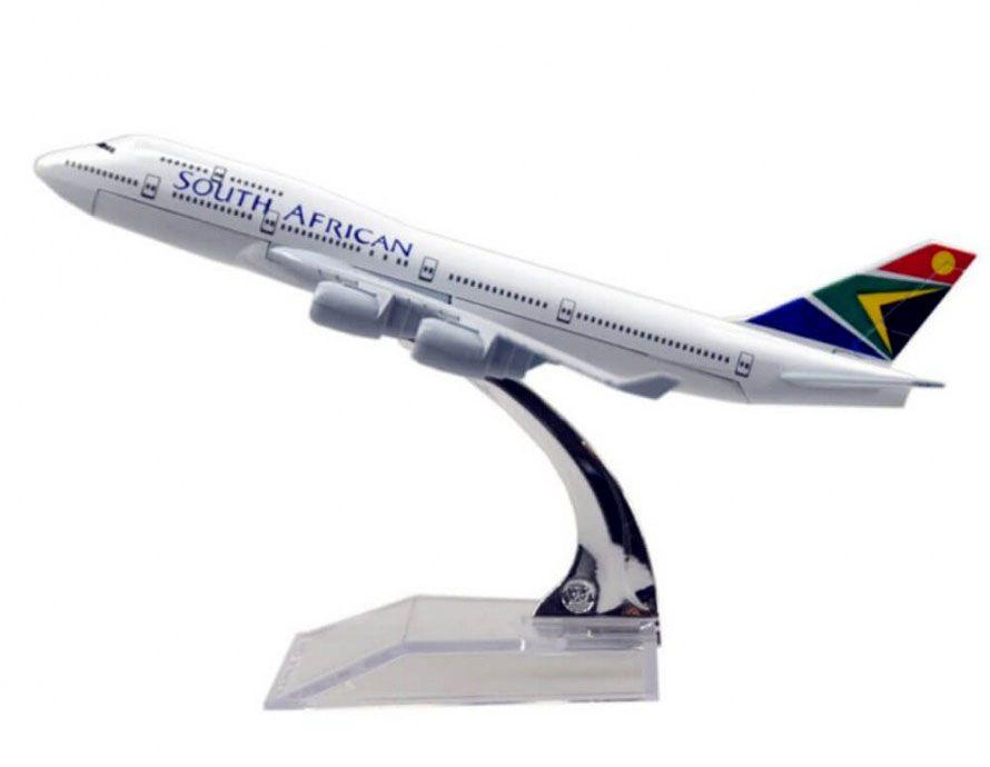 Miniatura Boeing 747-400 South African - 16 cm  - BLIMPS COMÉRCIO ELETRÔNICO
