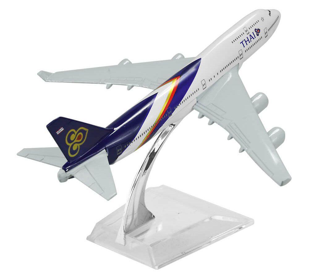 Miniatura Boeing 747-400 Thai - 16 cm  - BLIMPS COMÉRCIO ELETRÔNICO