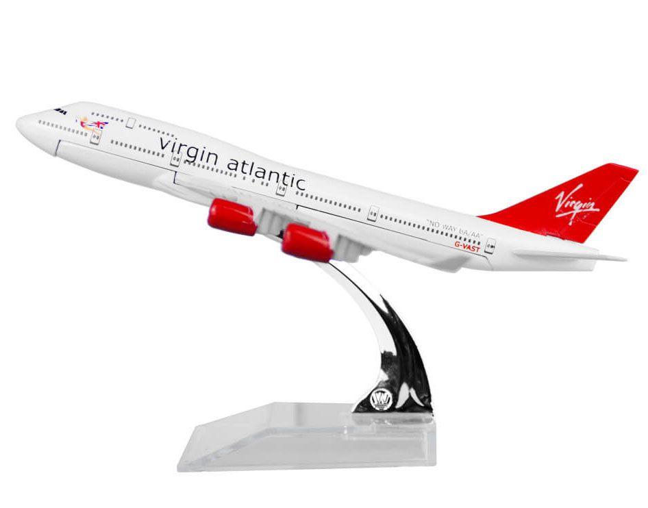 Miniatura Boeing 747-400 Virgin Atlantic - 16 cm  - BLIMPS COMÉRCIO ELETRÔNICO