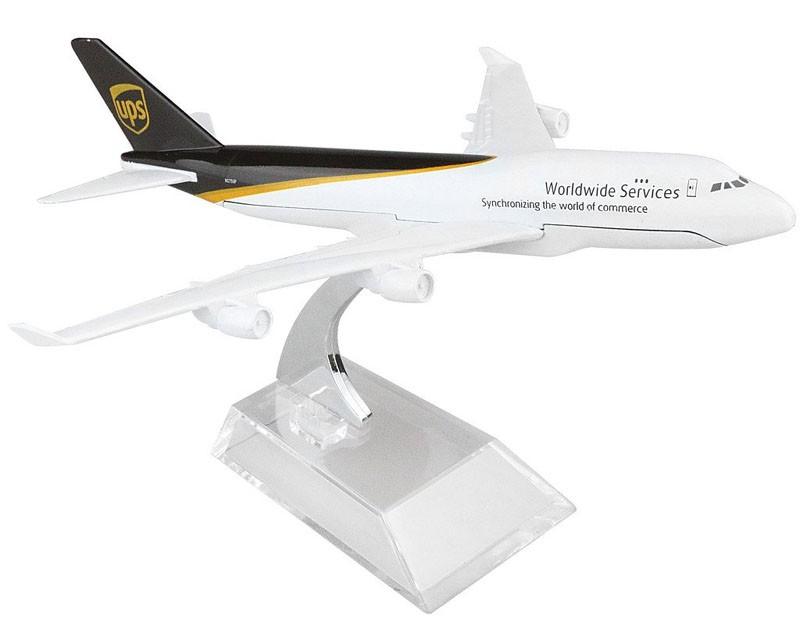 Miniatura Boeing 747-400F UPS - 16 cm  - BLIMPS COMÉRCIO ELETRÔNICO
