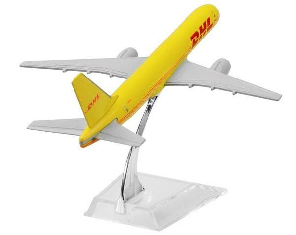Miniatura Boeing 757-200 DHL - 16 cm  - BLIMPS COMÉRCIO ELETRÔNICO