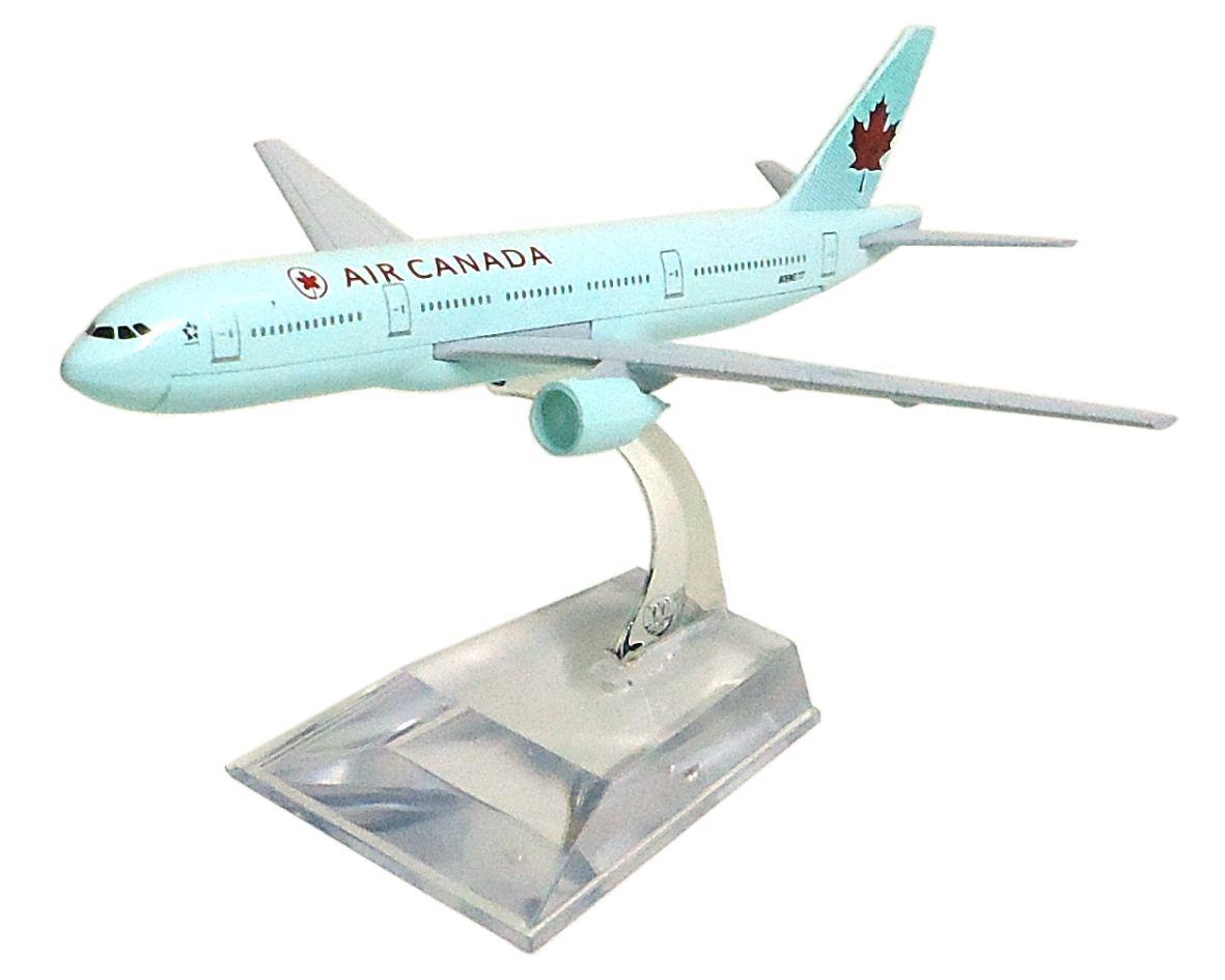 Miniatura Boeing 777 Air Canada - 16 cm  - BLIMPS COMÉRCIO ELETRÔNICO
