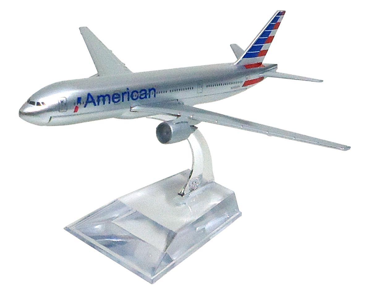 Miniatura Boeing 777 American - 16 cm  - BLIMPS COMÉRCIO ELETRÔNICO