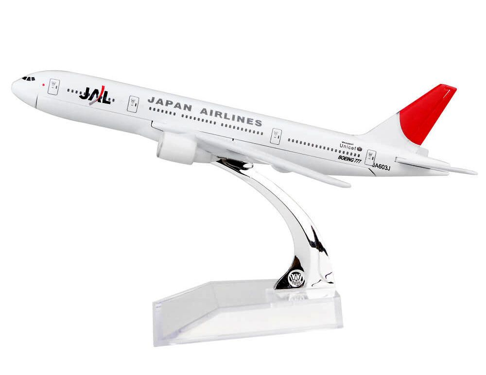 Miniatura Boeing 777 JAL - 16 cm  - BLIMPS COMÉRCIO ELETRÔNICO
