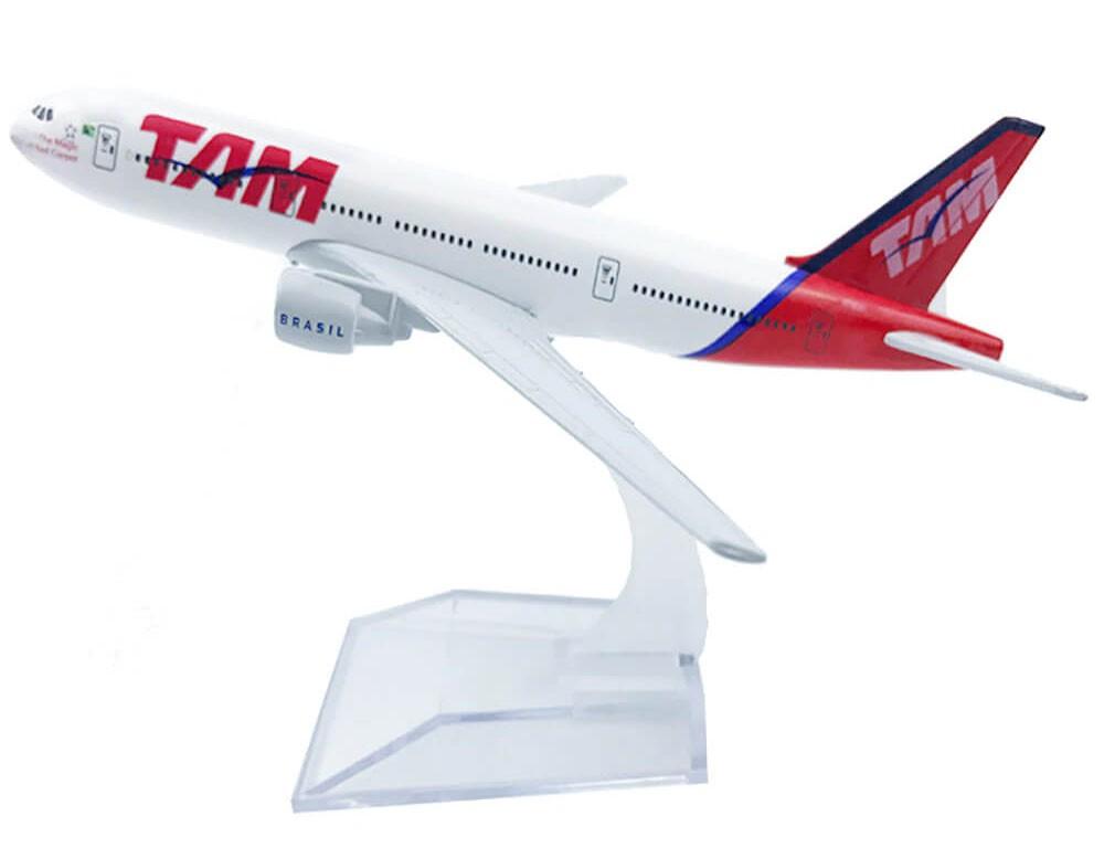 Miniatura Boeing 777 TAM - 16 cm  - BLIMPS COMÉRCIO ELETRÔNICO