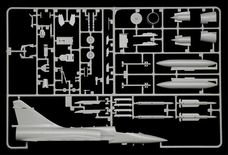 Mirage 2000C - Guerra do Golfo - 1/72 - Italeri 1381  - BLIMPS COMÉRCIO ELETRÔNICO