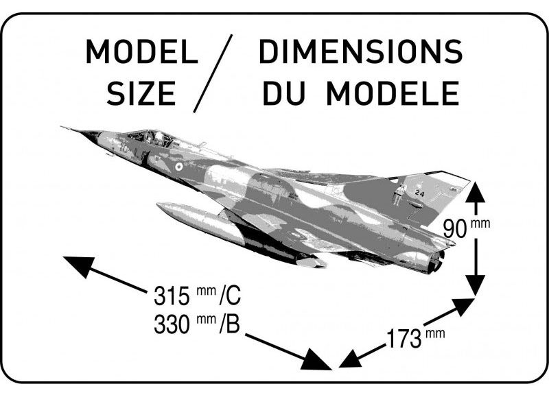 Mirage III C/B - 1/48 - Heller 80411  - BLIMPS COMÉRCIO ELETRÔNICO