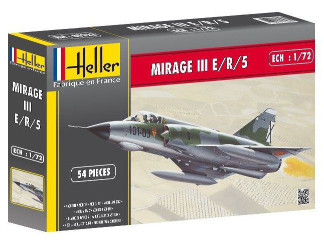 Mirage III E/R/5 - 1/72 - Heller 80323  - BLIMPS COMÉRCIO ELETRÔNICO