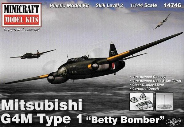 Mitsubishi G4M Type 1 Betty Bomber - 1/144 - Minicraft 14746  - BLIMPS COMÉRCIO ELETRÔNICO