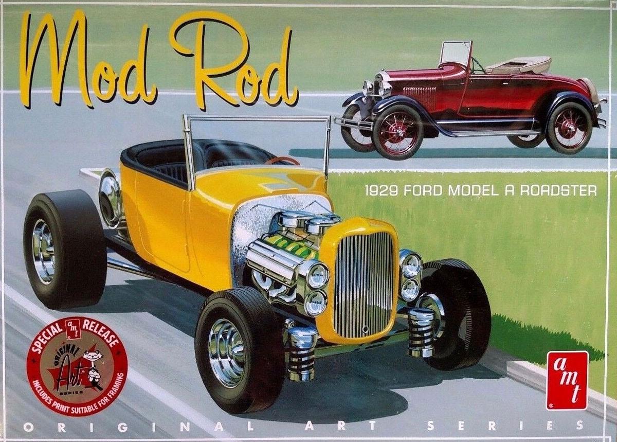 Mod Rod 1929 Ford Model A Roadster - 1/25 - AMT 1000  - BLIMPS COMÉRCIO ELETRÔNICO