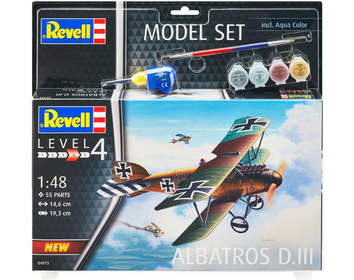 Model Set Albatros D.III - 1/48 - Revell 64973  - BLIMPS COMÉRCIO ELETRÔNICO