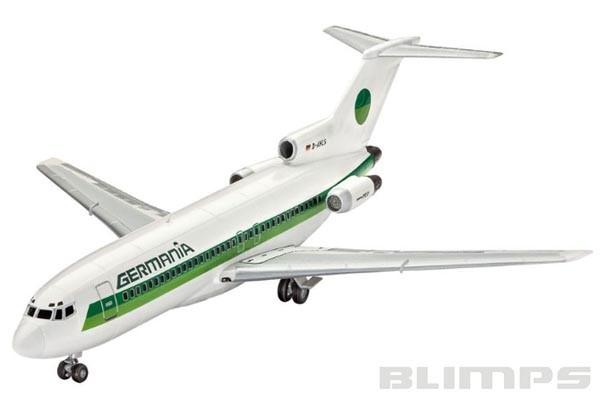 Model Set Boeing 727-100 Germania - 1/144 - Revell 63946  - BLIMPS COMÉRCIO ELETRÔNICO