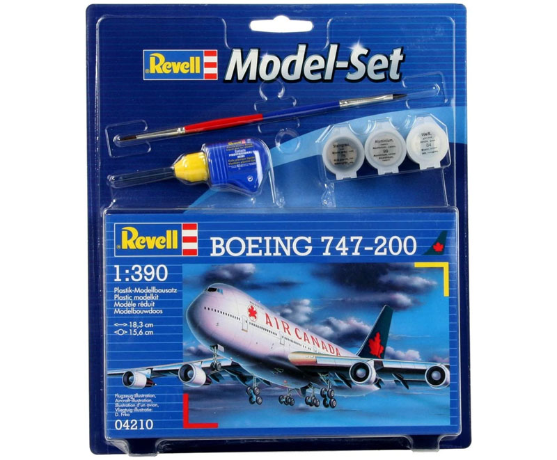 Model-Set Boeing 747-200 Air Canada - 1/390 - Revell 64210  - BLIMPS COMÉRCIO ELETRÔNICO