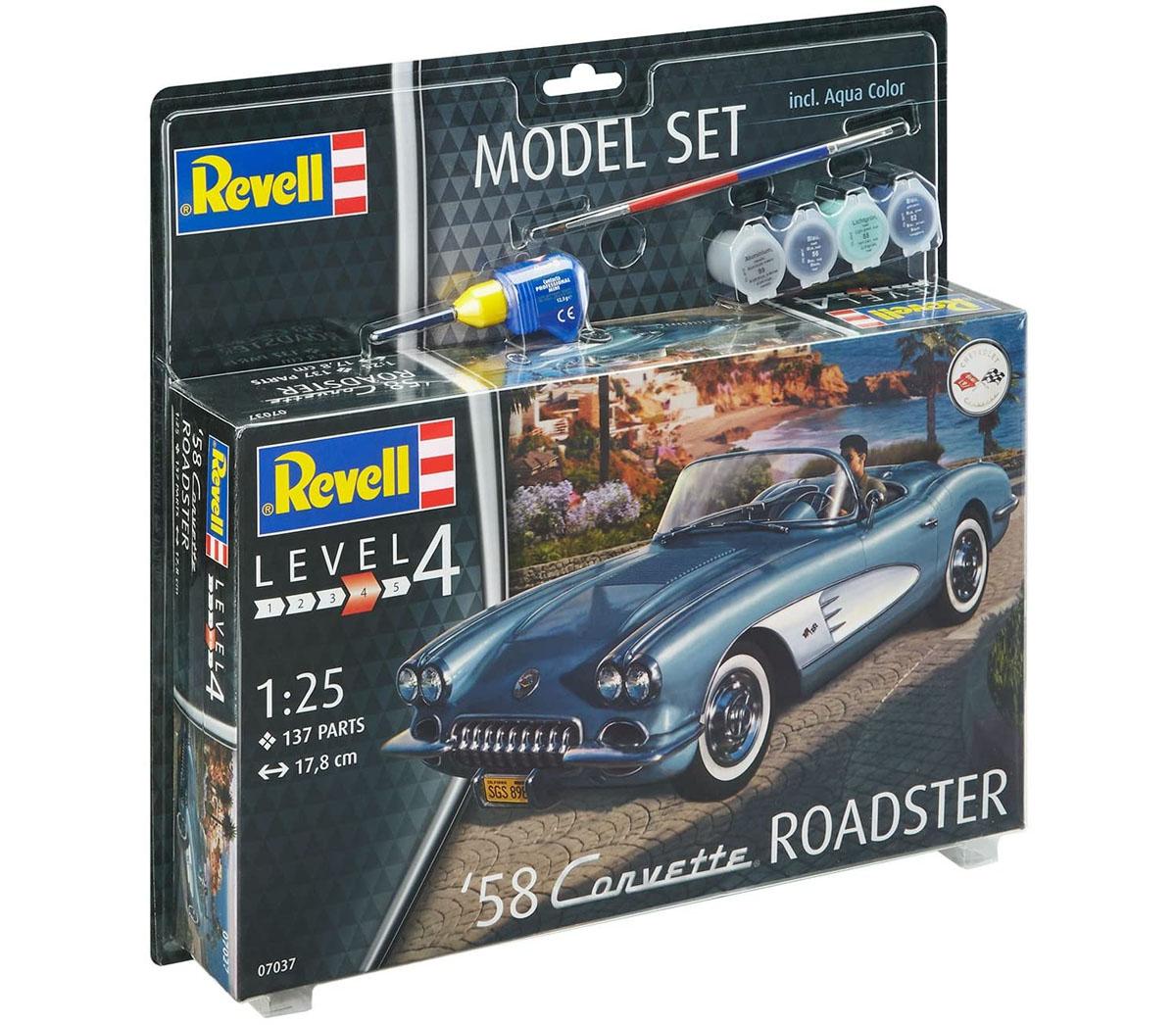Model Set Corvette Roadster 1958 - 1/25 - Revell 67037  - BLIMPS COMÉRCIO ELETRÔNICO