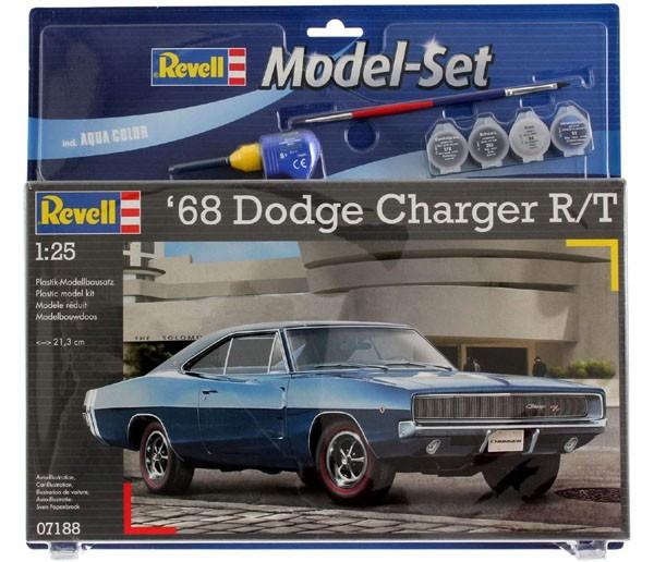 Model-Set Dodge Charger R/T 1968 - 1/25 - Revell 67188  - BLIMPS COMÉRCIO ELETRÔNICO