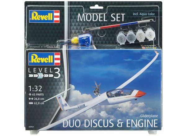 Model Set Duo Discus & engine - 1/32 - Revell 63961  - BLIMPS COMÉRCIO ELETRÔNICO