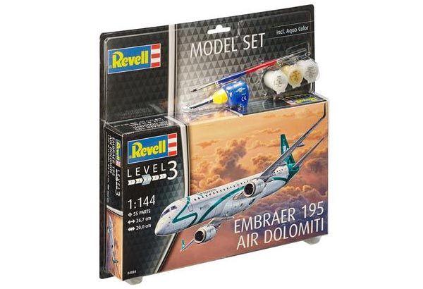 Model Set Embraer 195 Air Dolomiti - 1/144 - Revell 64884  - BLIMPS COMÉRCIO ELETRÔNICO