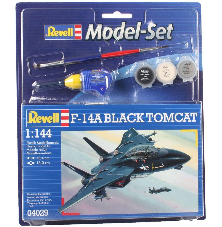 Model-Set F-14A Black Tomcat - 1/144 - Revell 64029  - BLIMPS COMÉRCIO ELETRÔNICO