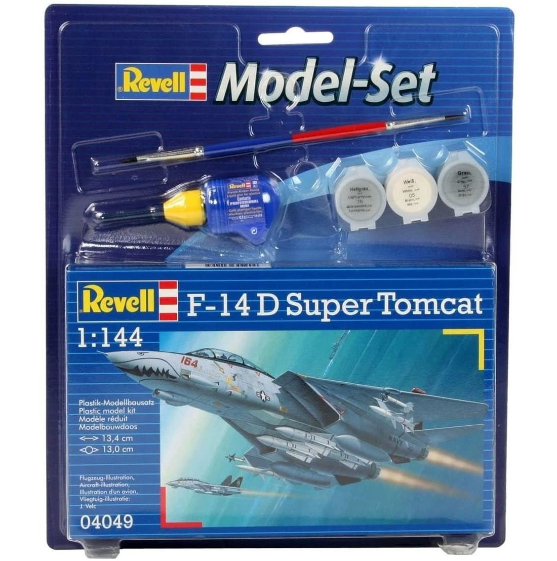 Model-Set F-14D Super Tomcat - 1/144 - Revell 64049  - BLIMPS COMÉRCIO ELETRÔNICO