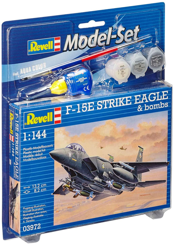 Model-Set F-15E Strike Eagle & bombs - 1/144 - Revell 63972  - BLIMPS COMÉRCIO ELETRÔNICO