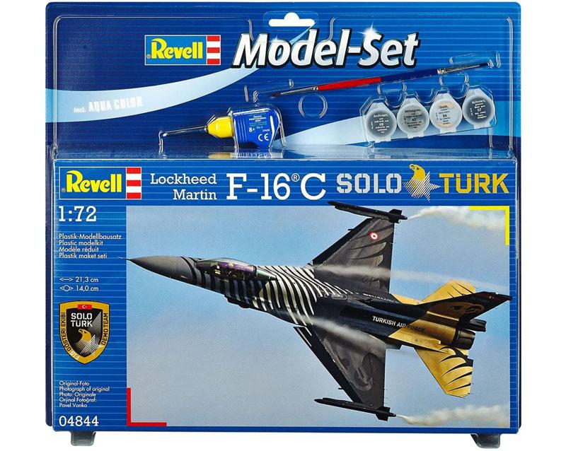 Model-Set F-16 C Solo Turk - 1-72 - Revell 64844  - BLIMPS COMÉRCIO ELETRÔNICO