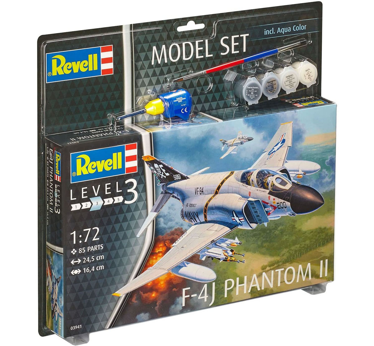 Model Set F-4J Phantom II - 1/72 - Revell 63941  - BLIMPS COMÉRCIO ELETRÔNICO