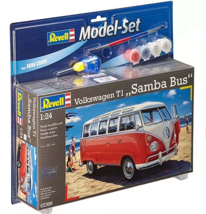 "Model-Set Kombi Volkswagen T1 ""Samba Bus"" - 1/24 - Revell 67399  - BLIMPS COMÉRCIO ELETRÔNICO"