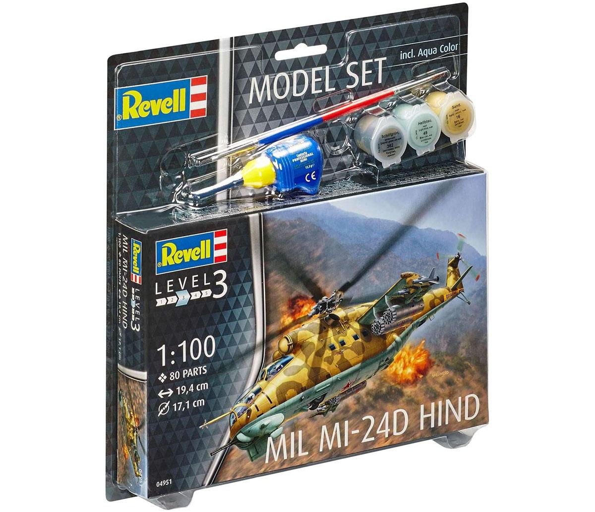 Model Set Mil Mi-24D Hind - 1/100 - Revell 64951  - BLIMPS COMÉRCIO ELETRÔNICO