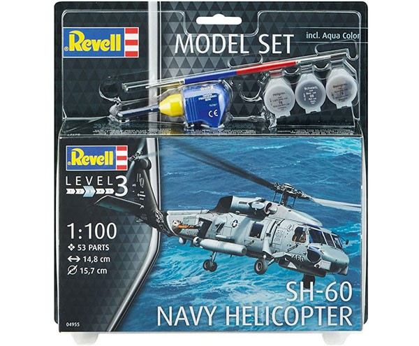 Model Set SH-60 Navy Helicopter - 1/100 - Revell 64955  - BLIMPS COMÉRCIO ELETRÔNICO