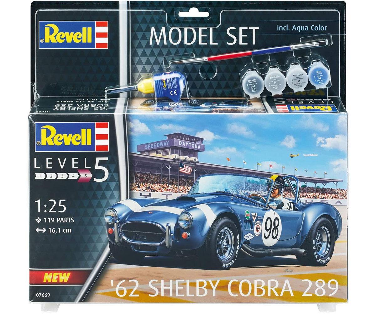 Model Set Shelby Cobra 289 1962 - 1/25 - Revell 67669  - BLIMPS COMÉRCIO ELETRÔNICO