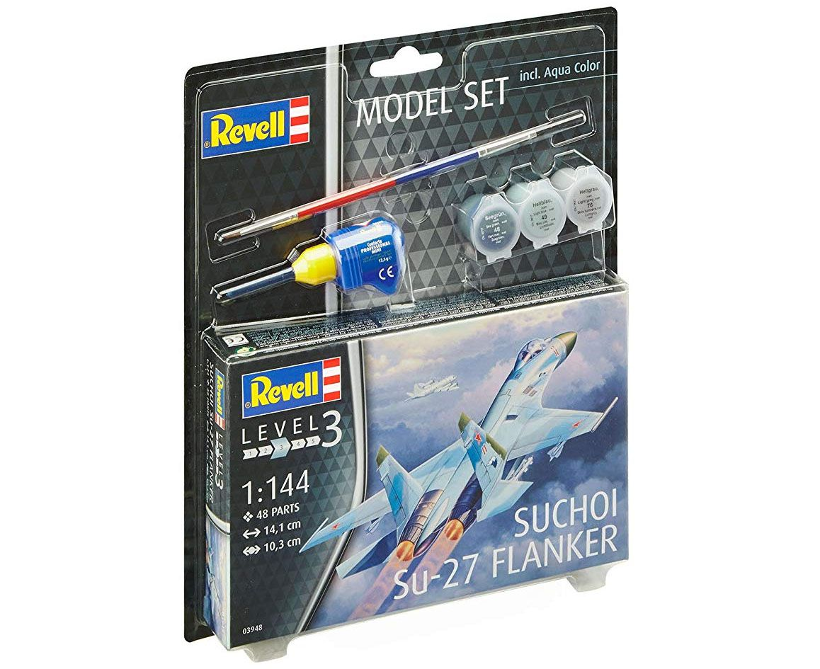 Model Set Suchoi Su-27 Flanker - 1/144 - Revell 63948  - BLIMPS COMÉRCIO ELETRÔNICO