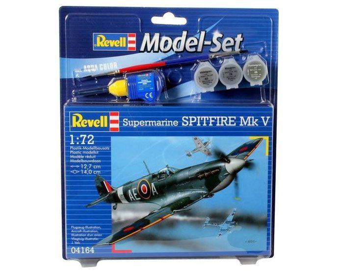 Model-Set Supermarine Spitfire Mk V - 1/72 - Revell 64164  - BLIMPS COMÉRCIO ELETRÔNICO