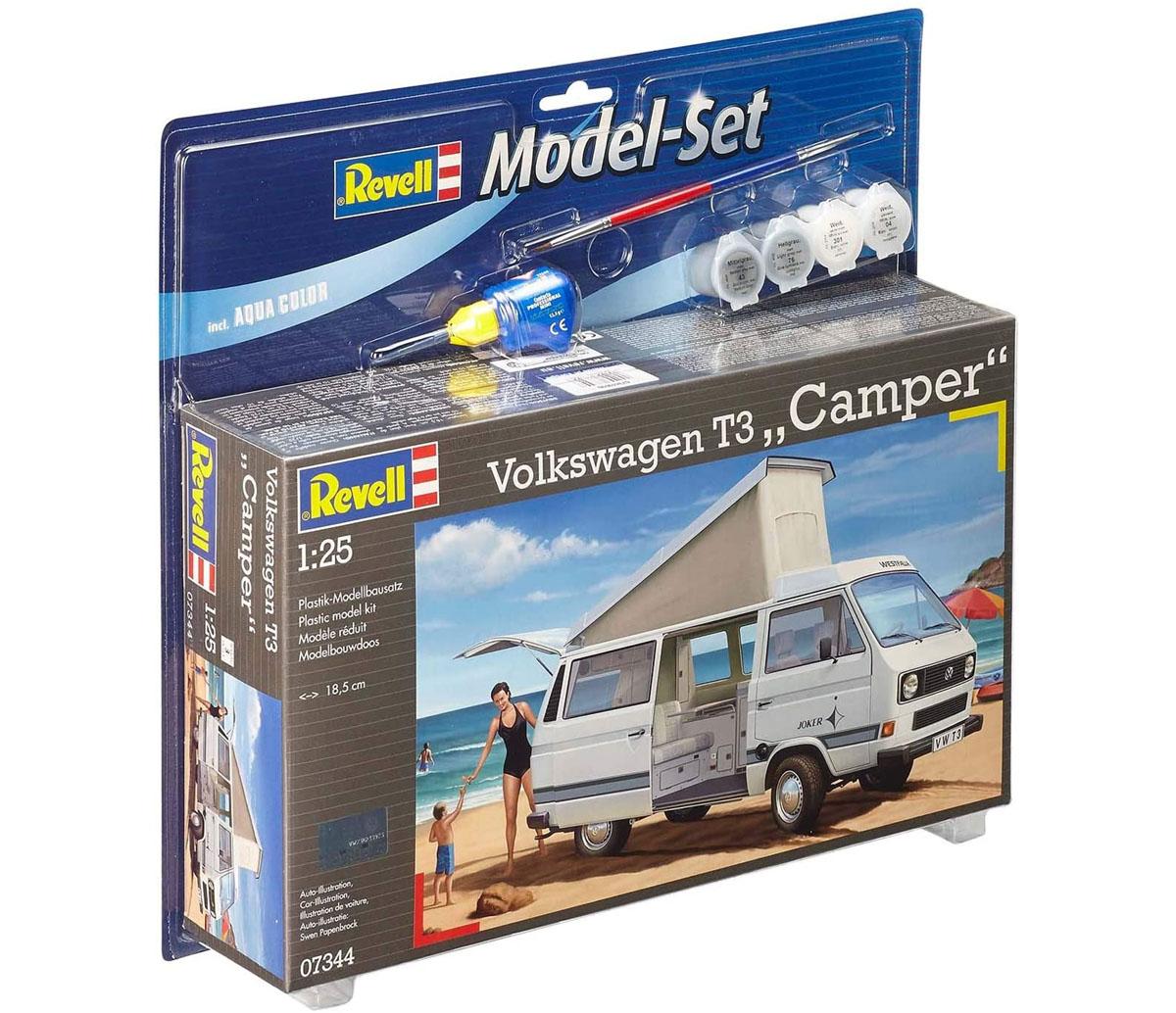 """Model-Set Volkswagen T3 """"Camper"""" - 1/25 - Revell 67344  - BLIMPS COMÉRCIO ELETRÔNICO"""