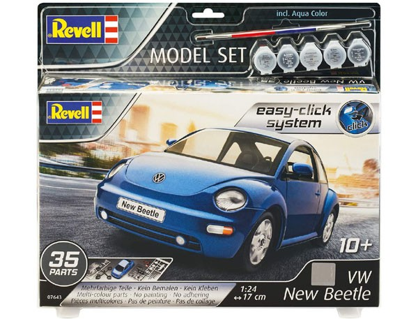 Model Set VW New Beetle - Novo Fusca - 1/24 - Revell 67643  - BLIMPS COMÉRCIO ELETRÔNICO