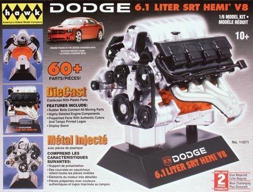 Motor Dodge 6.1 Liter SRT HEMI V8 - 1/6 - Hawk 11071  - BLIMPS COMÉRCIO ELETRÔNICO