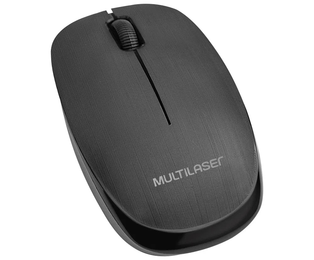 Mouse Sem Fio 2.4 Ghz 1200 DPI USB Preto - Multilaser MO251  - BLIMPS COMÉRCIO ELETRÔNICO