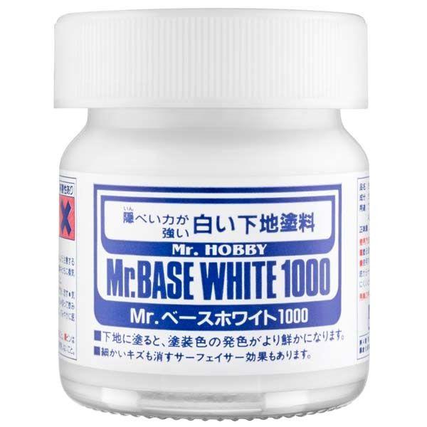 Mr.Base White 1000 - Primer branco - Mr.Hobby SF283  - BLIMPS COMÉRCIO ELETRÔNICO