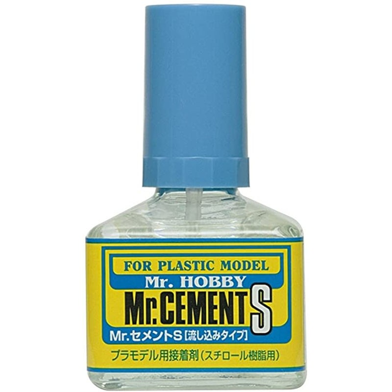 Mr.Cement S (cola líquida) - Mr.Hobby MC129  - BLIMPS COMÉRCIO ELETRÔNICO