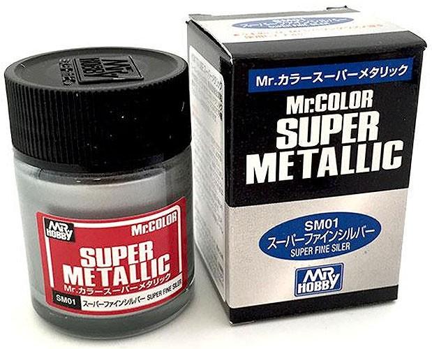 Mr.Color Super Metallic - Super Fine Silver - Mr.Hobby SM01  - BLIMPS COMÉRCIO ELETRÔNICO