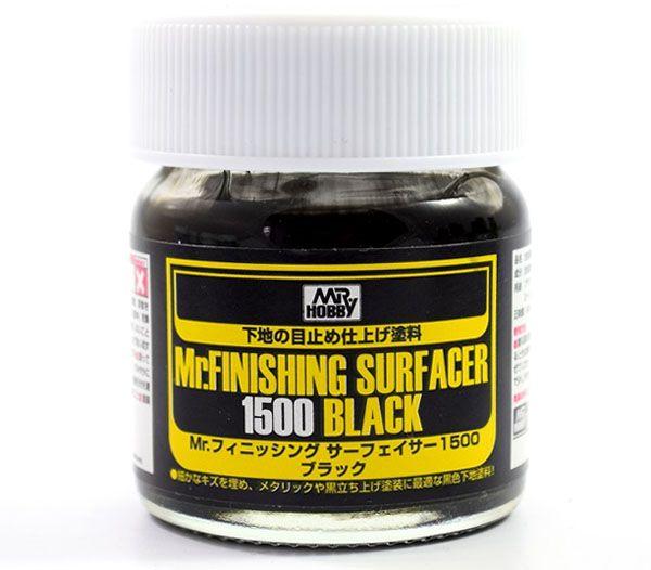 Mr.Finishing Surfacer 1500 Black - Primer preto - Mr.Hobby SF288  - BLIMPS COMÉRCIO ELETRÔNICO