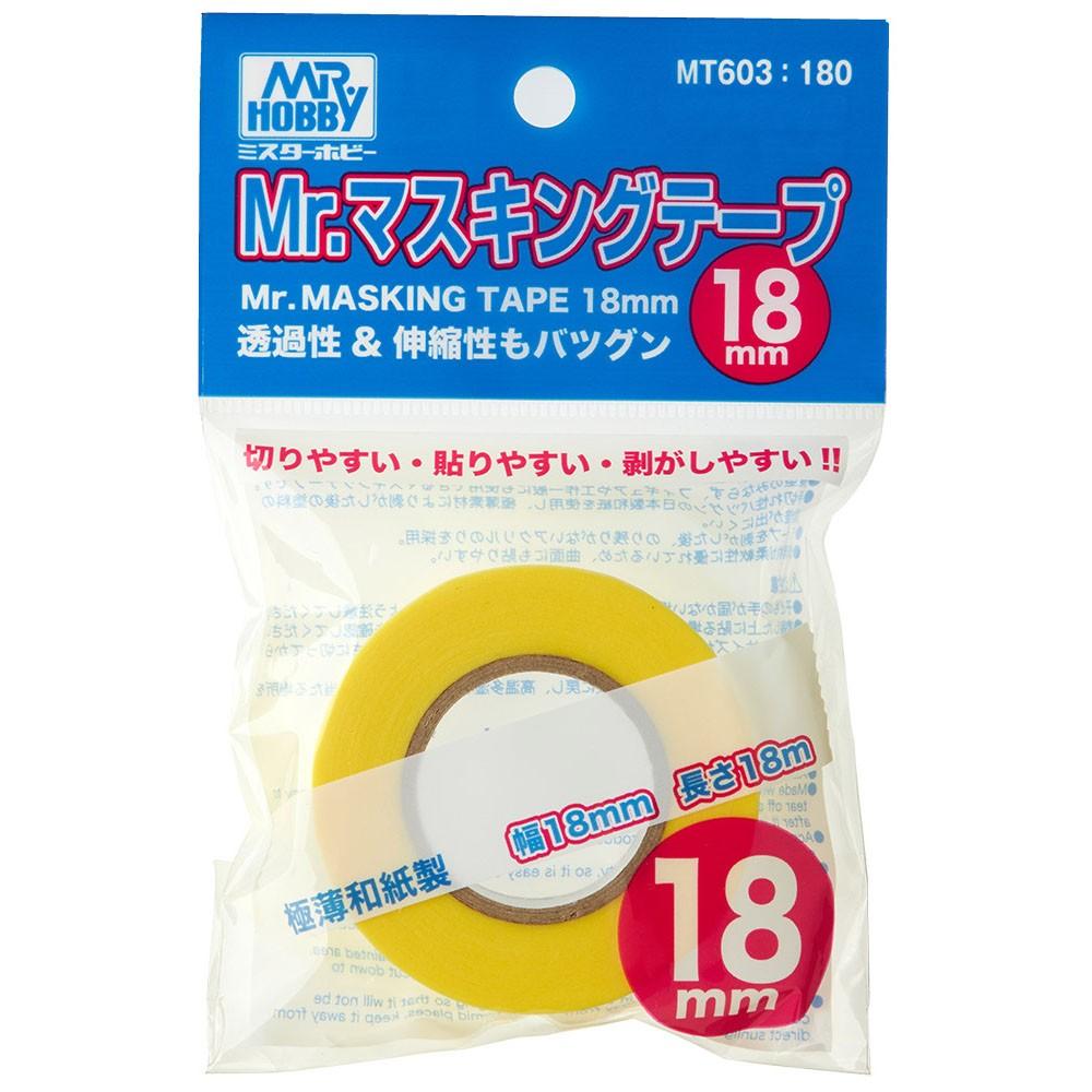 Mr.Masking Tape (máscara de pintura) 18 mm - Mr.Hobby MT603  - BLIMPS COMÉRCIO ELETRÔNICO