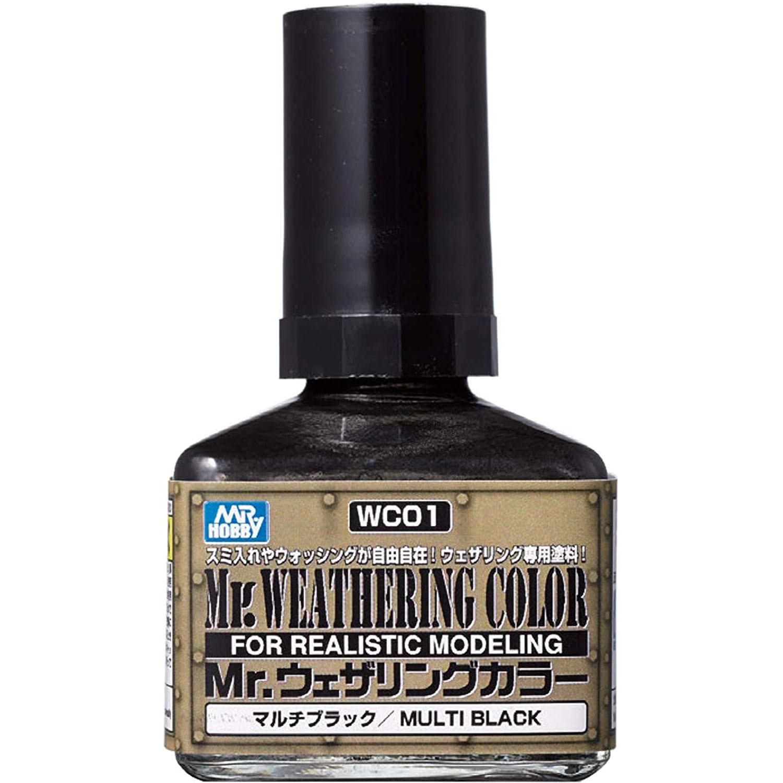 Mr.Weathering Color Multi Black - Mr.Hobby WC01  - BLIMPS COMÉRCIO ELETRÔNICO